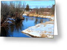 Winter River5 Greeting Card by Jennifer  King