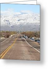 Winter Road Greeting Card
