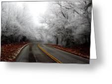 Winter Road Trip Greeting Card