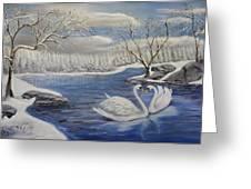 Winter Romance Greeting Card
