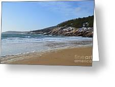 Winter Sand Beach Acadia Greeting Card