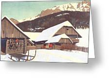 Winter Scene 1910 Greeting Card