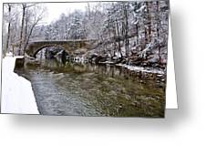 Winter Scene At Valley Green Greeting Card