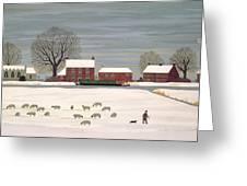 Winter Scene In Lincolnshire Greeting Card