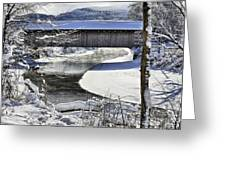Winter Scene In Montgomery Greeting Card
