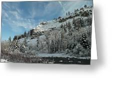 Winter Scene Greeting Card by Jeff Swan