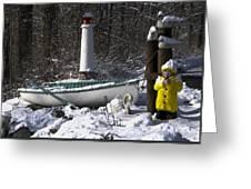 Winter Scene Michigan #1 Greeting Card