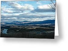 Winter Shenandoah River View Greeting Card by Lara Ellis