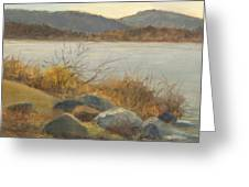 Winter Shoreline Rockland Lake Greeting Card