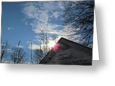 Winter Sky On Midday Greeting Card