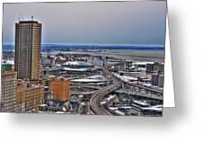Winter Skyway Downtown Buffalo Ny Greeting Card