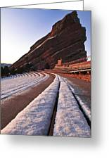 Winter Snow At Red Rocks Amphitheater Greeting Card