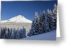 Winter Snow Over The Cascade Range Greeting Card