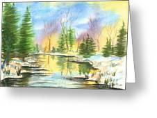 Winter Stillness Greeting Card