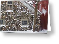 Winter Stone Pattern Greeting Card