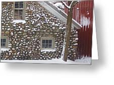 Winter Stone Pattern Greeting Card