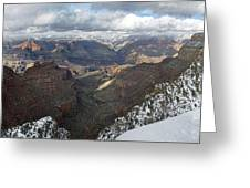 Winter Storm At The Grand Canyon Greeting Card