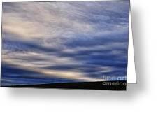 Winter Stormy Sky Greeting Card