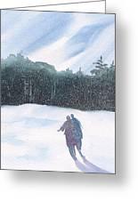 Winter Stroll Series Greeting Card