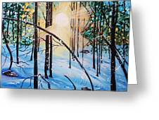 Winter Sun Greeting Card