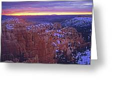 Winter Sunrise At Bryce Canyon Greeting Card