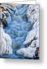 Winter Sunrise Great Falls Greeting Card