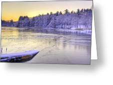Winter Sunrise Ipswich River Greeting Card