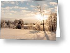 Winter Sunrise Panorama Greeting Card