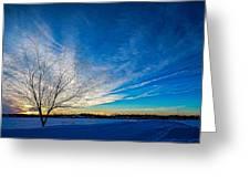Winter Sunset At Diamond Lake Greeting Card