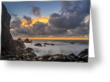 Winter Sunset At Patrick's Point Greeting Card by Greg Nyquist