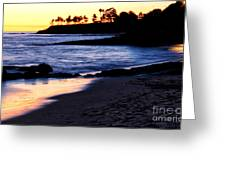 Winter Sunset In Laguna Beach II Greeting Card