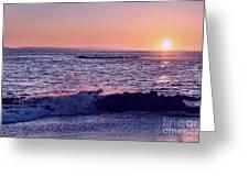 Winter Sunset In Laguna Beach IIi Greeting Card