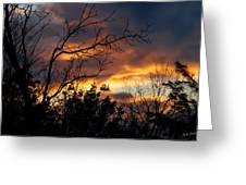Winter Sunset In The Rogue Valley Greeting Card