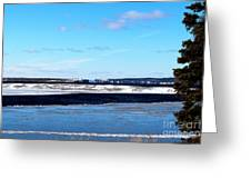 Winter Sunset On The Islands Greeting Card