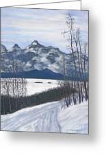 Winter Tetons Greeting Card