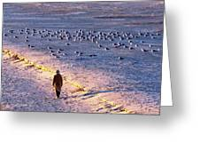 Winter Time At The Beach Greeting Card