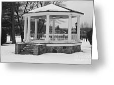 Winter Time Gazebo Greeting Card