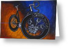 Winter Track Bicycle Greeting Card