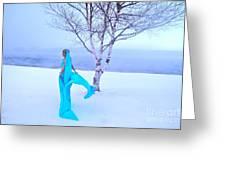 Winter Tree Empress Greeting Card