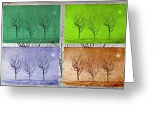 Winter Trees  Greeting Card by David Dehner