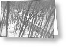 Winter Urban Wood Greeting Card