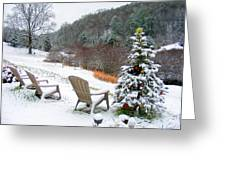 Winter Valley Chairs 2 Greeting Card