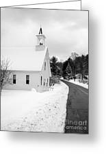 Winter Vermont Church Greeting Card