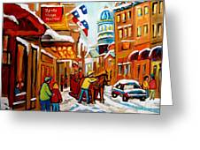 Winter Walk Montreal Greeting Card