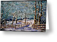 Winter Walk Greeting Card by Vickie Warner
