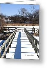Winter Walkway Greeting Card