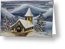Winter Watercolor Greeting Card