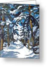 Winter Way Greeting Card