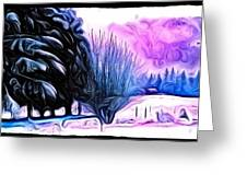 Winter Whimsey  Greeting Card