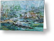 Winter Whispers On Catskill Creek Greeting Card